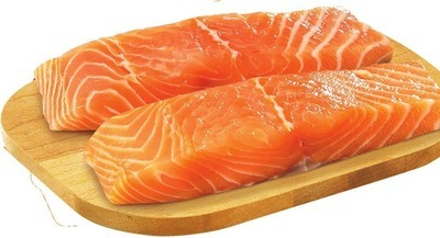 FRESH NORWEGIAN ATLANTIC SALMON PORTIONS SKIN ON OR SKINLESS COD PORTIONS 113 G OR ROCK LOBSTER TAIL FROZEN, 2 OZ.