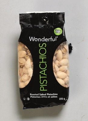 WONDERFUL PISTACHIOS 200 - 225 G IRRESISTIBLES WALNUT HALVES & PIECES 250 G IRRESISTIBLES WHOLE NATURAL ALMONDS 250 G