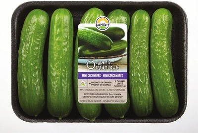 ORGANIC BLACKBERRIES 170 G PRODUCT OF MEXICO ORGANIC MINI CUCUMBERS 340 G, PRODUCT OF ONTARIO, CANADA NO. 1 GRADE