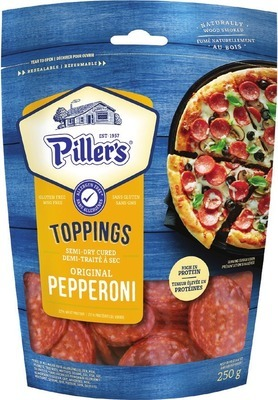 PILLER'S SLICED PIZZA PEPPERONI OR SAUSAGE
