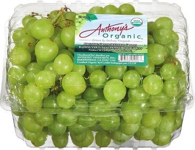 ORGANIC GREEN OR RED SEEDLESS GRAPES
