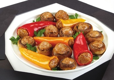 STUFFED MINI PEPPERS AND MUSHROOMS PARTY PACK
