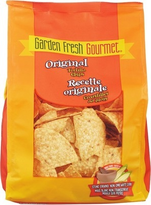 GARDEN FRESH GOURMET TORTILLA CHIPS OR SALSA
