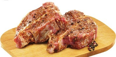 PEPPERCORN VEAL RIB OR LOIN CHOPS GRAIN FED