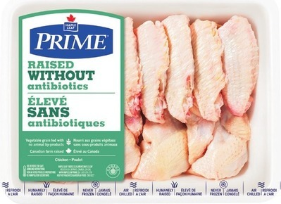 MAPLE LEAF PRIME RAISED WITHOUT ANTIBIOTICS FRESH SPLIT CHICKEN WINGS