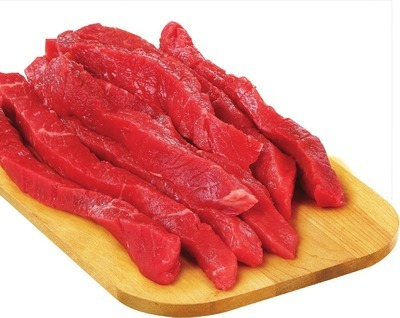 PLATINUM GRILL ANGUS BONELESS INSIDE ROUND BEEF BOURGUIGNON STRIPS FOR STIR FRY OR ROULADEN