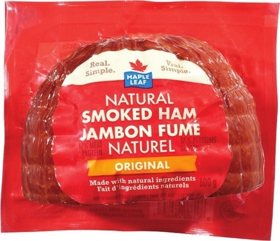 MAPLE LEAF OR SCHNEIDERS SMOKED HAM