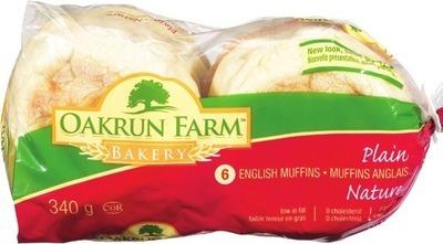 OAKRUN FARM ENGLISH MUFFINS OR CRUMPETS