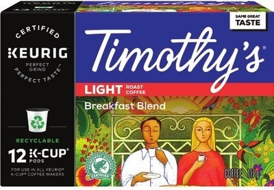 TIMOTHY'S K‑CUP COFFEE CAPSULES