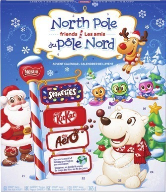LINDT, CABDURY DAIRY MILK OR NESTLÉ ADVENT CALENDAR
