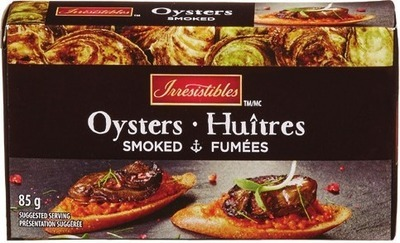 IRRESISTIBLES SMOKED OYSTERS OR MUSSELS