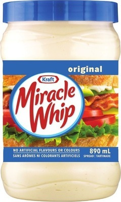 KRAFT MIRACLE WHIP, HEINZ KETCHUP OR SERIOUSLY GOOD MAYONNAISE