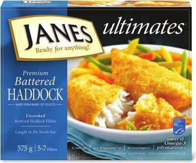 JANES ULTIMATES BREADED FISH FILLETS OR AQUA STAR BREADED SHRIMP