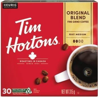 TIM HORTONS OR VAN HOUTTE K-CUP COFFEE CAPSULES