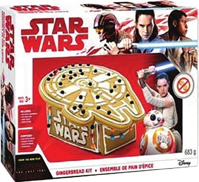 STAR WARS OR FROZEN GINGERBREAD KITS