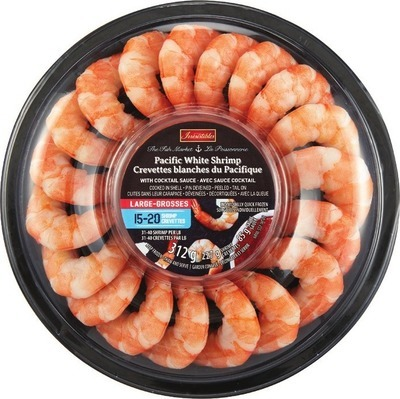 IRRESISTIBLES PACIFIC WHITE COOKED SHRIMP RING