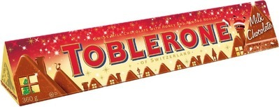 TOBLERONE CHRISTMAS MILK CHOCOLATE BAR