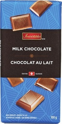 IRRESISTIBLES SWISS CHOCOLATE BARS