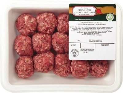 NEW ZEALAND SPRING LAMB SEASONED LAMB MEATBALLS OR LEAN GROUND LAMB