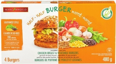 MARC ANGELO CHICKEN AND VEGETABLES BURGERS