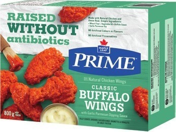 MAPLE LEAF PRIME RAISED WITHOUT ANTIBIOTICS STUFFED CHICKEN CUTLETS OR CHICKEN WINGS
