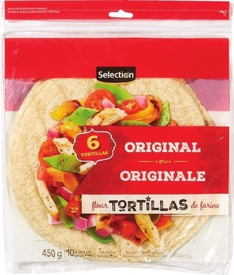 "SELECTION 10 - 12"" TORTILLAS"