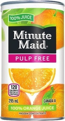 MINUTE MAID FROZEN ORANGE JUICE OR BACARDI MIXERS