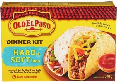 OLD EL PASO DINNER KITS OR SALSA