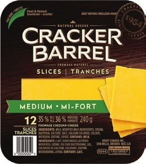 CRACKER BARREL SLICES, SNACK CHEESE OR FETA