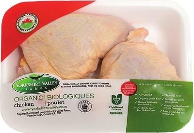 YORKSHIRE VALLEY FARMS ORGANIC FRESH CHICKEN LEG QUARTERS, FRESH WHOLE CHICKEN OR VALUE PACK CHICKEN DRUMSTICKS